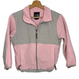 The north face pink fleece jacket